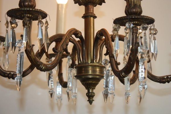 Antique Bronze Chandelier for sale at Pamono