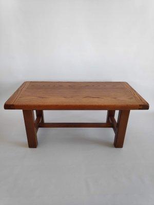 Minimalist Wooden Coffee Table 1960s 1
