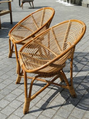 Vintage Rattan Chairs, 1960s, Set Of 2 2