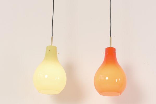 Italian Pendant Lights From Vistosi 1970s Set Of 2