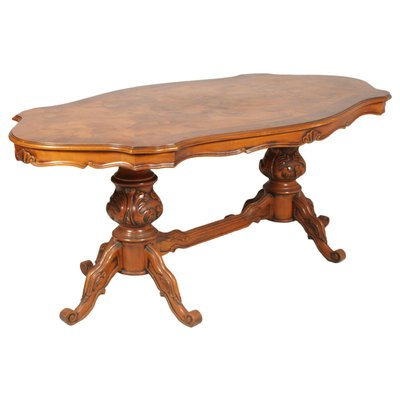 Art Deco Ferrarese Burl Dining Table 6 Chairs Set 1930s For Sale At Pamono