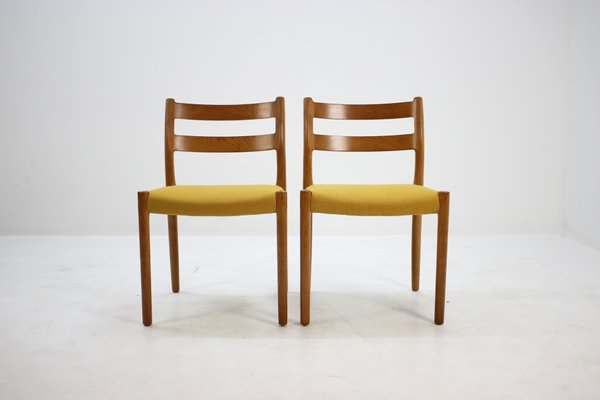 Flot Model 84 Oak Dining Chairs by Niels O. Møller for J.L. Møllers OM-85