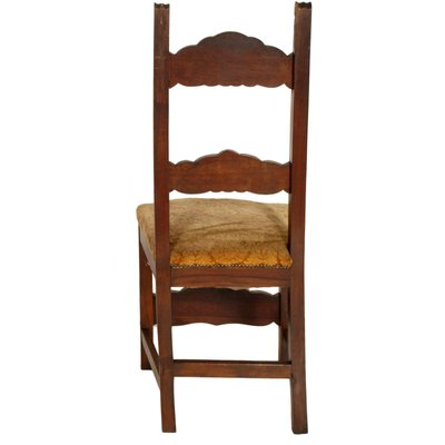 Sedie Legno Antiche.Sedie Antiche In Stile Rinascimentale Intagliate In Legno Di Noce Set Di 6