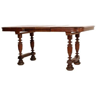 Tavolo provenzale allungabile in legno di quercia massiccio, XIX secolo