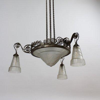 Art Deco Deckenlampe von Jean Noverdy, 1920er bei Pamono kaufen