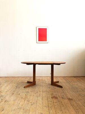 Small Mid Century Danish Teak Dining Table 1960s