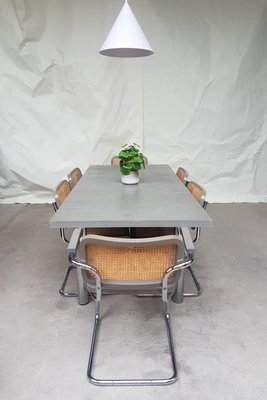 Mid Century Extendable Dining Table And Chairs By Marcel Breuer From Habitat 1980s