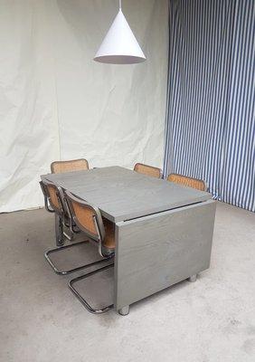 Par À Marcel Salle Extensible Chaises Breuer Et Habitat1980sSet De 7 Table Manger Mid Century lFK1Jc