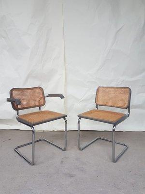 Juego de mesa de comedor extensible y sillas Mid-Century de Marcel Breuer  de Habitat, años 80. Juego de 7