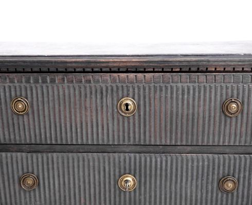 Antique Gustavian Style Chest Of Drawers 1970s