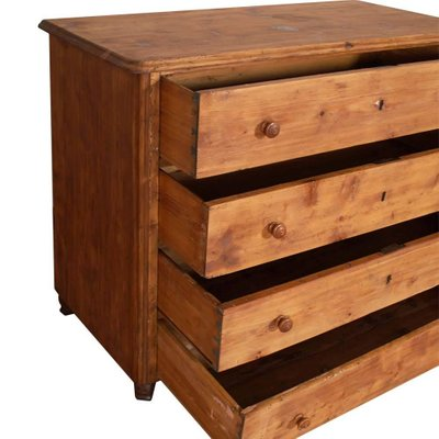 18th Century Italian Rustic Solid Pine Chest Of Drawers 1750s For
