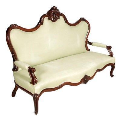 Tremendous Venetian Hand Carved Walnut Sofa 1800S Theyellowbook Wood Chair Design Ideas Theyellowbookinfo
