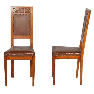 Sedie In Legno Ciliegio.Sedie Art Nouveau In Legno Di Ciliegio Set Di 2 In Vendita Su Pamono