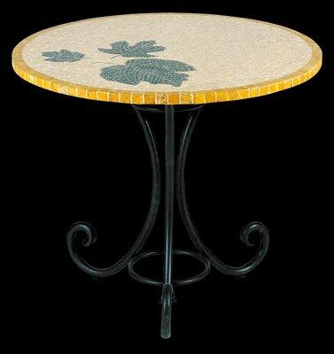 Table Ronde Smeraldo en Mosaïque par Egram, Italie