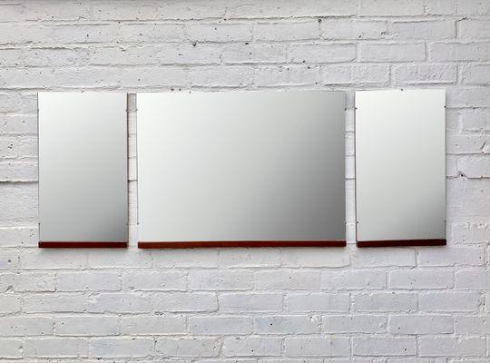 Specchi a muro vintage, anni \'60, set di 3 in vendita su Pamono