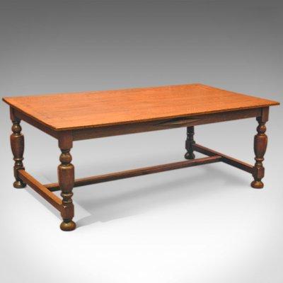 Large Antique Oak Kitchen Table For