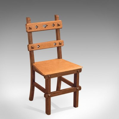 Antique Arts Crafts English Oak Chair 1900s For Sale At Pamono