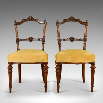 Stühle Aus Nussholz1880er2er Set Antike Englische 0kwOn8P