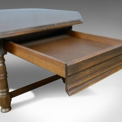 Large Octagonal Vintage Oak Coffee Table For Sale At Pamono