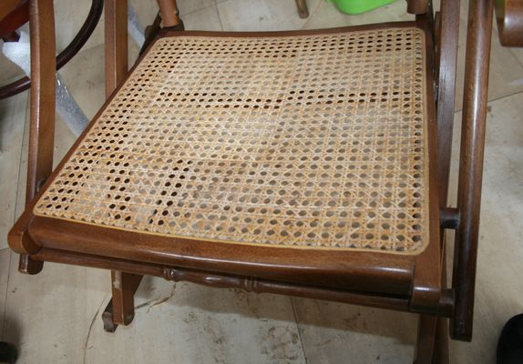 Awesome Mid Century Cane Folding Rocking Chair 1950S Andrewgaddart Wooden Chair Designs For Living Room Andrewgaddartcom