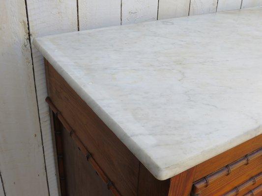 Credenza Con Ripiano In Marmo : Credenza antica a forma di bambù con ripiano in marmo vendita