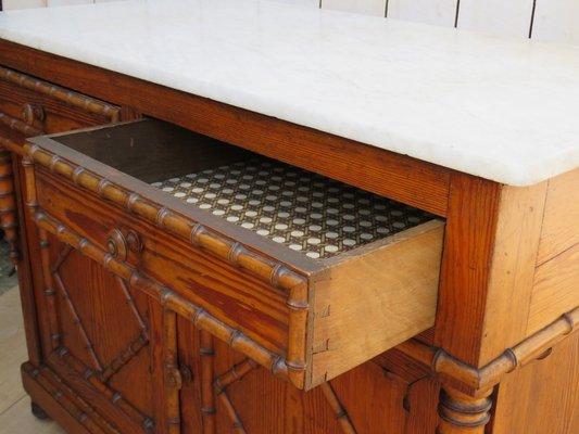 Credenza Antica Con Marmo : Credenza antica a forma di bambù con ripiano in marmo vendita su