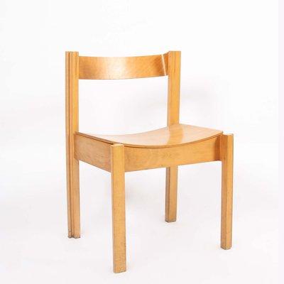 Sedie vintage in legno di faggio e compensato curvato, Regno Unito, anni '60, set di 4