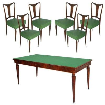 Mid Century Italian Dining Room Table Chairs Set 1