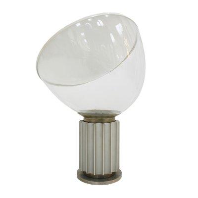 Lampada da tavolo Taccia in vetro e alluminio di Achille Castiglioni ...