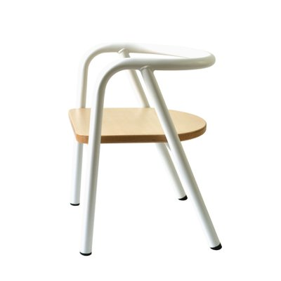 Outstanding White Metal Childrens Chair By Mum And Dad Factory Uwap Interior Chair Design Uwaporg