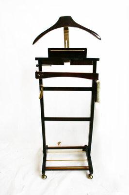c94928dee5 Galán de noche de madera y latón con cajones, años 80 en venta en Pamono