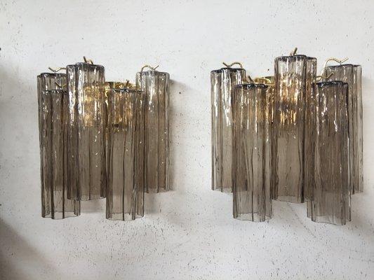 Applique vetro vetro vetro di murano soffiato bianco montatura