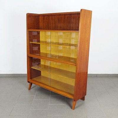Vintage Bookcase With Glass Doors From Tatra