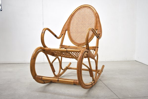 Marvelous Mid Century Italian Rocking Chair Gmtry Best Dining Table And Chair Ideas Images Gmtryco