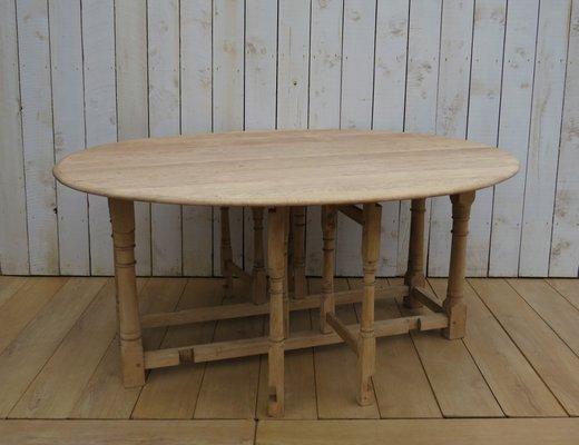 Tavolo da pranzo in legno di quercia sbiancato, anni \'50