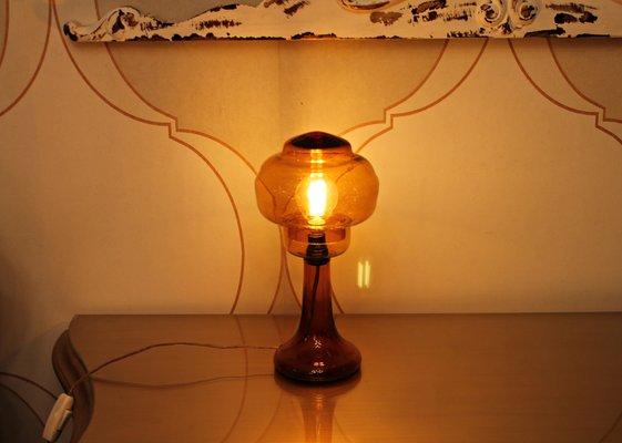 Lampade In Vetro Soffiato : Lampada da tavolo art déco in vetro soffiato anni 20 in vendita su