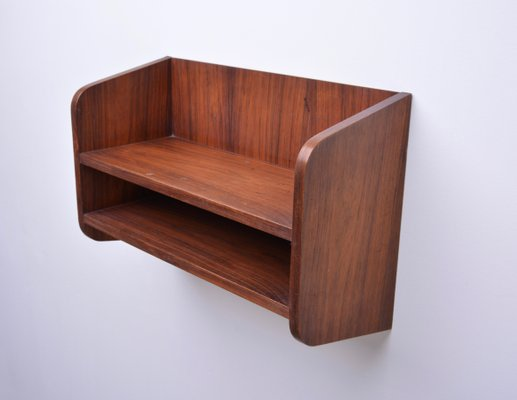 Small Danish Rosewood Wall Shelf 1960s For Sale At Pamono