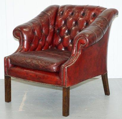 Mid Century Chesterfield Lutyen S Style Viceroy S Oxblood Leather