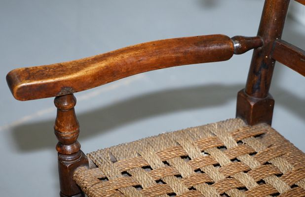 Miraculous Small Antique Georgian Elm Childrens Rocking Chair With Rope Seat Spiritservingveterans Wood Chair Design Ideas Spiritservingveteransorg