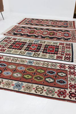 Tappeti Kilim in lana, Cecoslovacchia, anni \'60, set di 4 in vendita ...