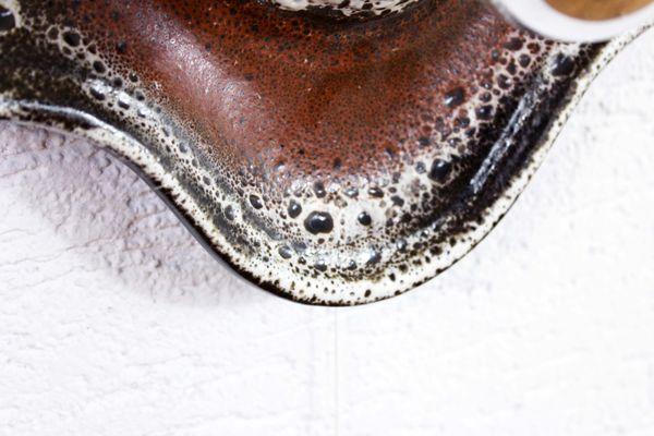 Belfiore applique destra design moderna da parete ceramica bianca