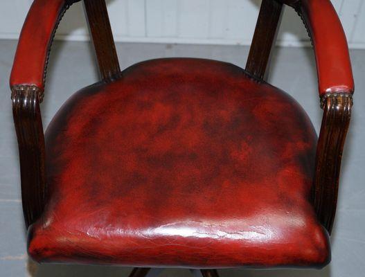 Dunkelroter Vintage Ledersessel Bei Pamono Kaufen