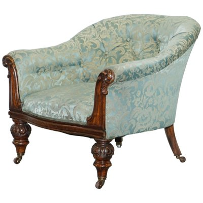 Remarkable Victorian Redwood And Silk Upholstered Armchair Download Free Architecture Designs Scobabritishbridgeorg