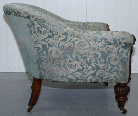 Swell Victorian Redwood And Silk Upholstered Armchair Download Free Architecture Designs Scobabritishbridgeorg