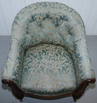 Terrific Victorian Redwood And Silk Upholstered Armchair Download Free Architecture Designs Scobabritishbridgeorg