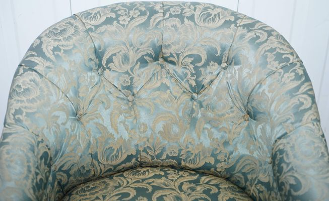 Strange Victorian Redwood And Silk Upholstered Armchair Download Free Architecture Designs Scobabritishbridgeorg