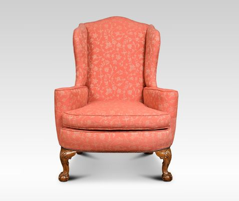 Antique Georgian Style Wingback Armchairs Set Of 2 For Sale At Pamono
