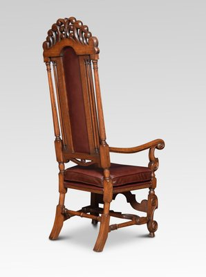 Antique Oak High Back Armchairs Set Of 2 For Sale At Pamono