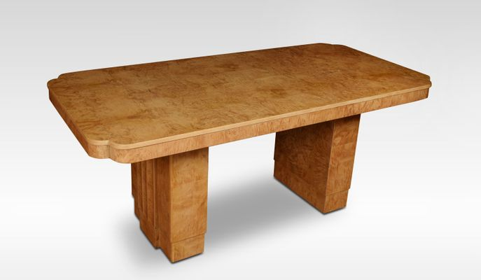 Art Deco Bird\'s Eye Maple Dining Table