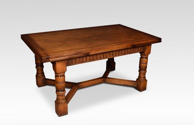 Tavolo allungabile in legno di quercia